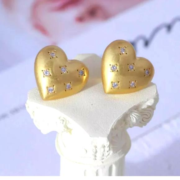 KATE SPADE My Precious Heart Stud Gold Earrings